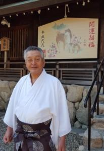 「サロン・ド・廣田」実行委員長の西井宮司